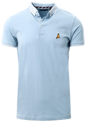 Brave Soul Pale Blue / White Short Sleeve Polo