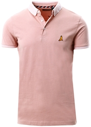 Brave Soul Fresh Pink / White Short Sleeve Polo