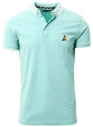Brave Soul Pale Green / White Short Sleeve Polo