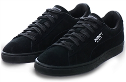 Puma Black/Dark Shadow Suede Classic Trainer