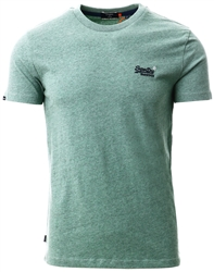 Superdry Seagrass Green Grit Orange Label Vintage Embroidery T-Shirt