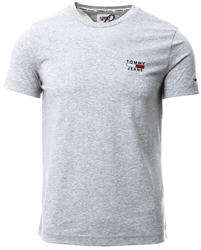 Tommy Jeans Silver Grey Htr Slim Fit High Neck T-Shirt