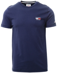 Tommy Jeans Twilght Navy Slim Fit High Neck T-Shirt