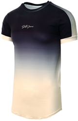 Sixth June Black Beige Tie And Dye Sleeve T-Shirt