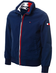 Tommy Jeans Twilight Navy Essential Logo Collar Hooded Jacket