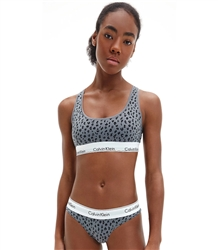 Calvin Klein Savannah Cheetah_Pewter Bralette - Modern Cotton