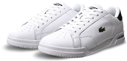 Lacoste White Twin Serve Leather Colour-Pop Trainers