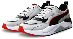 Puma Gray-Black-Red X-Ray 2 Square Trainers