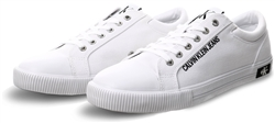 Calvin Klein Bright White Canvas Trainers