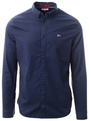 Tommy Jeans Twilight Navy Lightweight Organic Cotton Twill Shirt