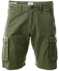 Jack & Jones Green / Dusty Olive Zack Ama Cargo Shorts