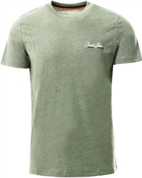 Jack & Jones Green / Sea Spray Logo Crew Neckline T-Shirt