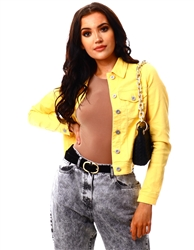 Veromoda Corn Silk Soya Denim Jacket