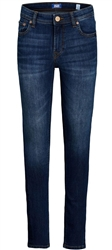 Jack & Jones Blue / Blue Denim Junior Dan Original Am 226 Skinny Fit Jeans