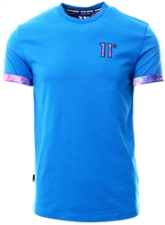 11degrees Skydiver Blue / Pink Logo T-Shirt