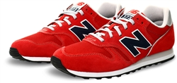 New Balance Red With Navy 373v2 Trainer