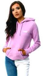 Superdry Lavender Marl Orange Label Classic Hoodie