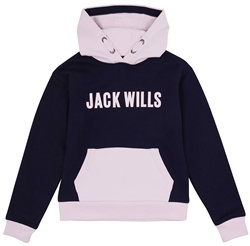 Jack Wills Navy Blazer Junior Crop Over Head Hoodie