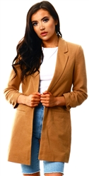 Veromoda Brown / Tobacco Brown Long Blazer
