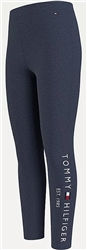Tommy Jeans Twilight Navy Essential Organic Cotton Logo Leggings