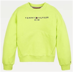 Tommy Jeans Faded Lime Essential Organic Cotton Terry Sweatshirt