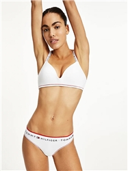 Tommy Jeans White Repeat Logo Waistband Thong