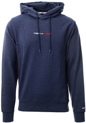 Tommy Jeans Twilight Navy Htr Ribbed Side Logo Hoody