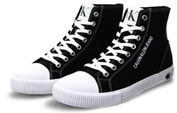 Calvin Klein Black Canvas High Top Trainers