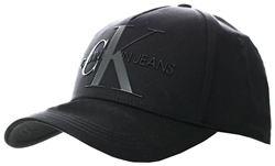 Calvin Klein Black Cotton Twill Logo Cap