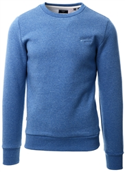 Superdry Bright Blue Grit Orange Label Classic Crew Sweatshirt