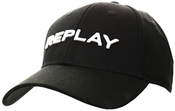 Replay Black Cap With Bill In Cotton