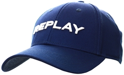Replay Navy Cap With Bill In Cotton