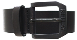 Replay Black Belt In Brushed Leather