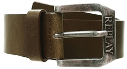 Replay Brown Belt In Brushed Leather