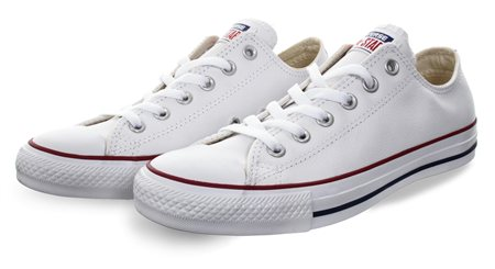 Converse White (Womens) Chuck Taylor All Star Leather  - Click to view a larger image