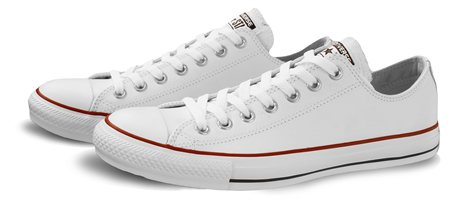 Converse White Chuck Taylor All Star Leather  - Click to view a larger image