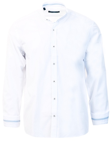 Ottomoda White Slim Fit Granda Collar Shirt  - Click to view a larger image