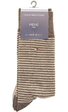 Hilfiger Denim Midgrey Stripe Sock  - Click to view a larger image