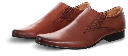 Front Tan Smooth Point Shoe  - Click to view a larger image