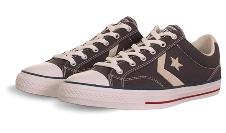 Converse Grey Star Player Ox  - Click to view a larger image