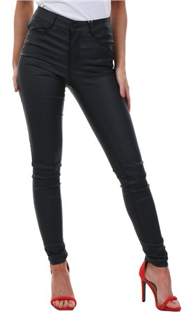 Vila Black Leather Commit Hw Pant  - Click to view a larger image