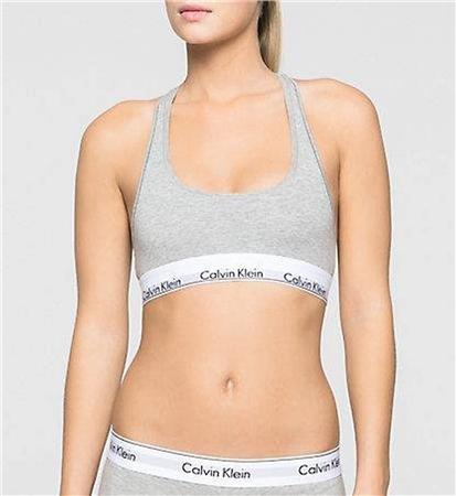 981360767228 Calvin Klein Grey Heather Bralette - Modern Cotton | | Shop the latest  fashion online @ DV8