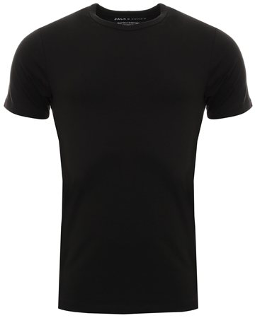 Jack & Jones Black Basic O Neck Short Sleeve  - Click to view a larger image