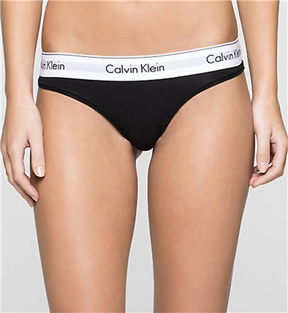 Calvin Klein Black Thong - Modern Cotton  - Click to view a larger image