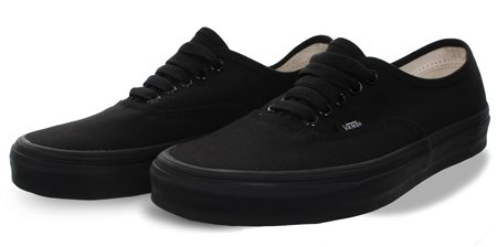 Vans Black (Mens) Authentic Shoes  - Click to view a larger image