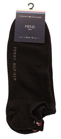 Hilfiger Denim Black 2 Pack Trainer Socks  - Click to view a larger image
