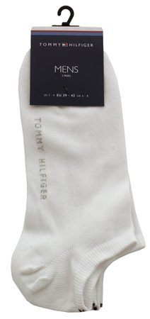 Hilfiger Denim White 2 Pack Trainer Socks  - Click to view a larger image