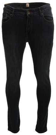 Enzo Dark Denim Short Straight Fit Jean  - Click to view a larger image