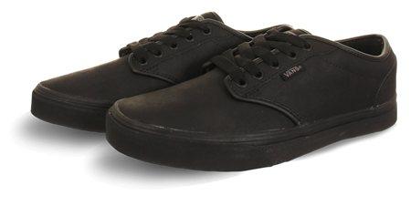 Vans Black Premium Leather Authentic Decon Shoes  - Click to view a larger image