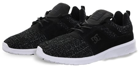 D.C Shoes Black Heathrow Lace Trainer  - Click to view a larger image